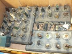 A SET OF LEAD LORD OF THE RINGS CHESS PIECES
