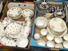 TWO TRAYS OF ASSORTED CHINA TO INCLUDE COLCLOUGH, ANTIQUE AYNSLEY ETC.