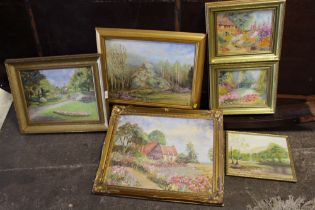 A COLLECTION OF FRAMED OIL PAINTINGS ALL BY CYRIL TALBOT (6)