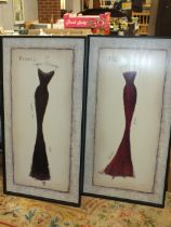 TWO LARGE DESIGNER STYLE PICTURES