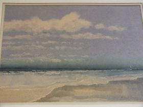 MICHAEL CRAWLEY (XX) ENGLISH SCHOOL. Coastal scene 'Martha's Vineyard Massachusetts' see verso,