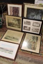 A COLLECTION PRINTS TO INCLUDE A HUNTING PRINT , SIGNED LIMITED EDITION LEE ROBERSON WILD HERITAGE