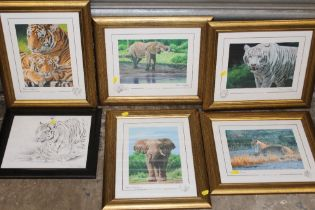 A COLLECTION OF FIVE SIGNED LIMITED EDITION STEPHEN GAYFORD PRINTS TOGETHER WITH ANOTHER (6)