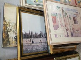 A QUANTITY OF ASSORTED PRINTS TO INCLUDE A LS LOWRY PRINT, F1 INTEREST PRINT, ANDREWS LIVERSOL PRINT