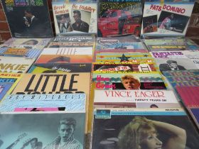 A COLLECTION OF ROCK 'N' ROLL LP RECORDS ETC., artists include Fats Domino, Chuck Berry, Do Diddley