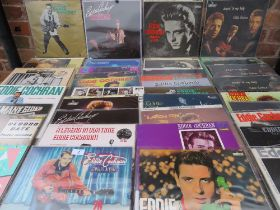 A LARGE COLLECTION OF EDDIE COCHRAN LP RECORDS ETC., various labels and issue dates, to include Sin