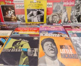 A COLLECTION OF JERRY LEE LEWIS LP RECORDS, to include four Sun recordings - London HA-5123, LP1045