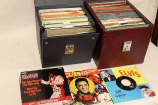 """TWO CASES OF ELVIS PRESLEY 45 RPM 7"""" EPS AND SINGLE RECORDS ETC., various dates and labels to inclu"""