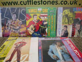 FOUR JAPANESE ELVIS PRESLEY LP RECORDS, comprising Elvis Presley Rock n Roll album RCA-9123-24 ster