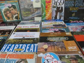 A COLLECTION OF FILM, TV AND MUSICAL SOUND TRACK LP RECORDS ETC., to include War Of The Worlds 1969