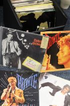 """A COLLECTION OF DAVID BOWIE 45 RPM 7"""" SINGLE RECORDS ETC., various dates and labels, some with orig"""