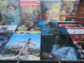 A LARGE COLLECTION OF CLIFF RICHARD & THE SHADOWS LP RECORDS ETC., various duplicate titles to incl