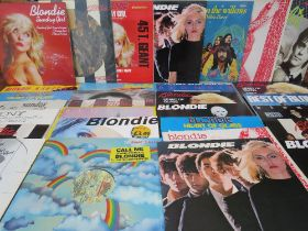 """A COLLECTION OF BLONDIE LP'S AND 12"""" SINGLES, to include Parallel Lines picture disc, The Wind In T"""
