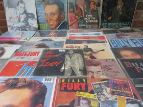 A COLLECTION OF BILLY FURY LP RECORDS ETC., to include I've Gotta Horse LK4677 (ARL-6713-1A / ARL-6