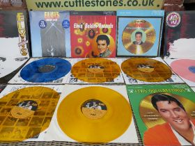 A SELECTION OF ELVIS PRESLEY COLOURED VINYL LP RECORDS, comprising 40 Greatest Hits RCA PL42691(2),