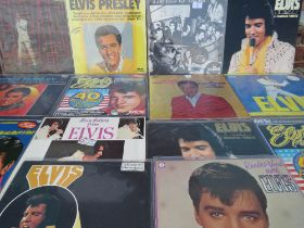 A COLLECTION OF ELVIS PRESLEY IMPORT LP RECORDS, to include Dutch import SRL 610001 - The Elvis Tap