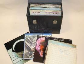 A CASE OF ASSORTED LP RECORDS, to include Glass Prism, Pink Floyd, David Bowie, Bob Dylan, The Beat