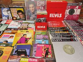 A COMPLETE 12 CD BOX SET OF ELVIS AND FRIENDS, together with a part box set of Elvis #1 Hit Singles