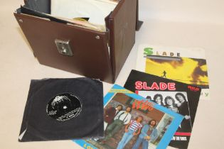 """A CASE OF 1960'S/70'S ERA 7"""" SINGLE 45RPM RECORDS ETC., to include T-Rex, Led Zeppelin, Pink Floyd,"""