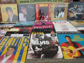 A LARGE QUANTITY OF ELVIS PRESLEY LP RECORDS, contains multiple duplicate copies (approx 100+)