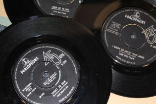 """A QUANTITY OF THE BEATLES RELATED 45 RPM 7"""" SINGLE RECORDS, various labels - predominantly Apple re"""