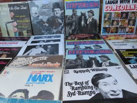 A COLLECTION OF COMEDY LP RECORDS ETC., to include The Good Show, Steptoe & Son, Marx Brothers, Lau