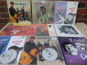 THREE GENE VINCENT AND THE BLUE CAPS RECORDS, Blue Jean Bop T1 764 1N / T2 764 2N, Gene Vincent Roc