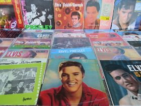 A COLLECTION OF ELVIS PRESLEY LP RECORDS ETC., to include Elvis' Golden Records, Burning Love and H