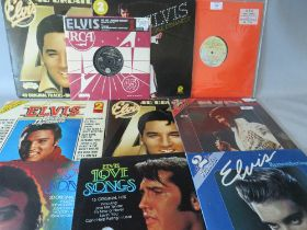A SMALL SELECTION OF ELVIS PRESLEY LP RECORDS, to include USA pressing of Double Dynamite RCA PDL2-