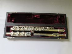 A BUFFET CRAMPON 227 COOPER SCALE FLUTE, with hard case