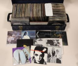 """A COLLECTION OF STIFF RECORDS 45 RPM 7"""" SINGLE RECORDS, including examples by Nick Lowe, Madness, T"""