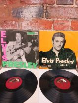 AN ELVIS PRESLEY ROCK 'N' ROLL LP RECORD, HMV CLP1093, 2XAV.255 / 2XAV.256. together with Elvis Pre