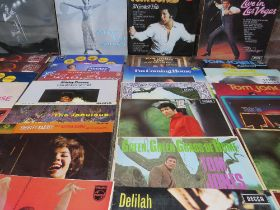 A COLLECTION OF TOM JONES AND SHIRLEY BASSEY LP RECORDS, to include A-tom-ic Jones and Shirley Stop