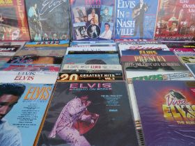 A COLLECTION OF APPROXIMATELY 65 ELVIS PRESLEY LP RECORDS, containing some duplicate titles