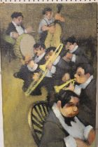 LEONARD CREO (Bb. 1923). American school, an impressionist study of a jazz band. Signed lower