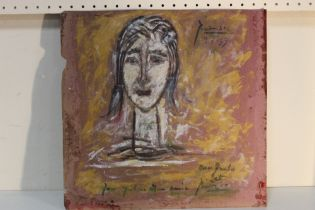 AFTER PABLO RUIZ PICASSO (1881-1973). A modernist figure study, bears signature and date 1959