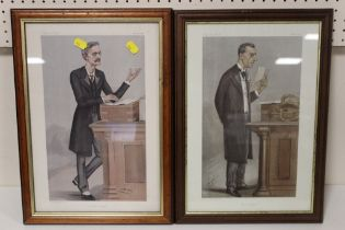 TWO VANITY FAIR SPY PRINTS ENTITLED 'A CHIEF SECRETARY' AND 'THE COLONIES'