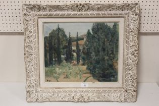 AFTER MARCEL DYF (1899-1985). French school, an impressionist continental villa garden scene.