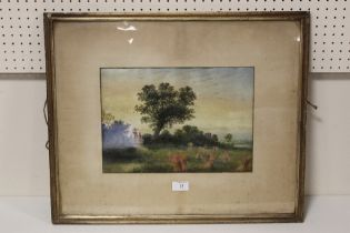 J B DAVIS (XIX). A harvest scene with figures, signed lower left and dated 1884, oil, framed and
