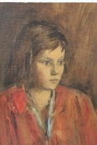 MAURICE FEILD (1905-1988). An impressionist portrait study of a young girl. Unsigned, see studio