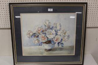 ARTHUR WILSON GAY (1901-1955). Still life study of flowers in a vase, signed lower right,