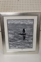 PETER GANT (XX). Cornish school, a shore scene with figure 'Bait Digger' see verso. Signed with