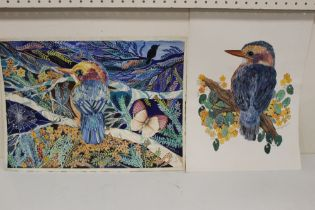J.G. EISWORTHY PAYNE. Two colourful studies of birds on branches. Signed and dated 1974 and 1970,