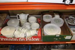 TWO TRAYS OF HORNSEA FLEUR TEA AND DINNER WARE