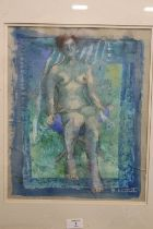 BARBARA STEWART (XX). 'Sun Worship', signed lower right, pastel on paper, framed and glazed, 39 x 31