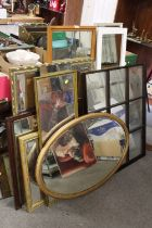 A LARGE QUANTITY OF ASSORTED MIRRORS