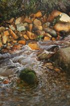 JOHN R. TODD (XX-XXI). Scottish school, rocky river scene, signed and dated 2003 lower right, oil on