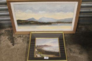 HARRY McMANUS (XX) IRISH SCHOOL. 'Evening Sky, Howth Head, Dublin', see verso, signed lower right,