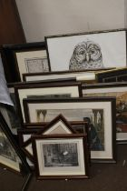 A QUANTITY OF ASSORTED PICTURES AND PRINTS
