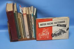 A SMALL COLLECTION OF MOTORING INTEREST BOOKS to include Carlo Demand ' 'Motor Racing